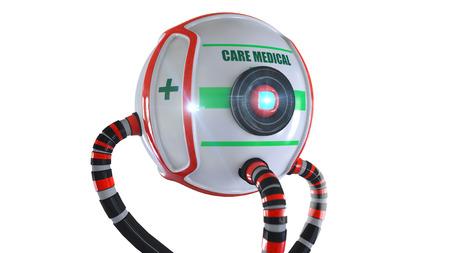 hospital caricatura: Cuidado robot m�dica