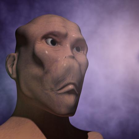 starship: Alien portrait
