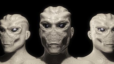 roswell: Alien portrait