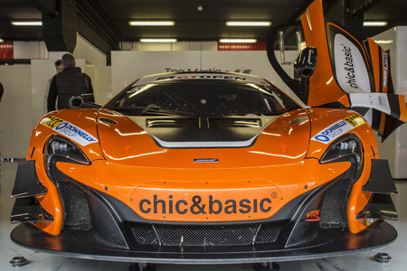 motorsport: Teo Martin Motorsport. McLaren 650S. International GT Open. Montmelo, Spain. November 1, 2015 Editorial
