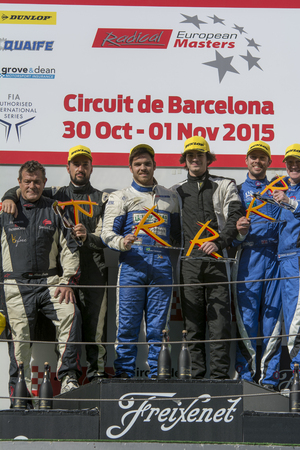 radical: Awards ceremony Radical European Masters Championship. International GT Open. Montmelo, Spain. November 1, 2015 Editorial