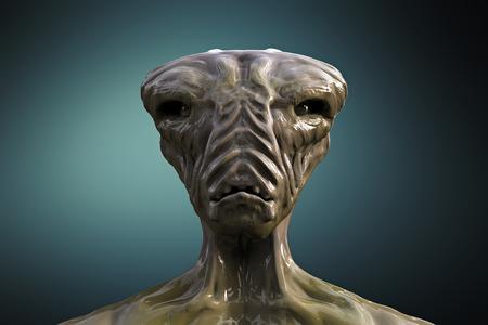 anticipation: SCIFI alien portrait