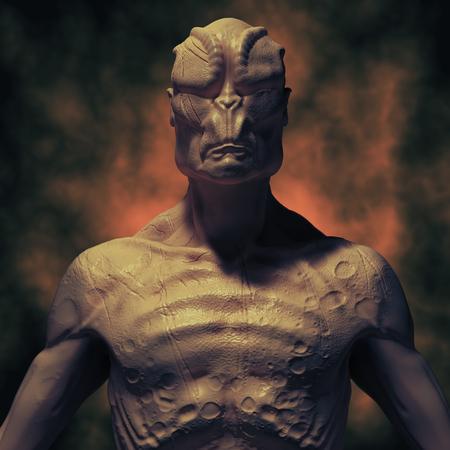 science fiction: SCIFI alien portrait