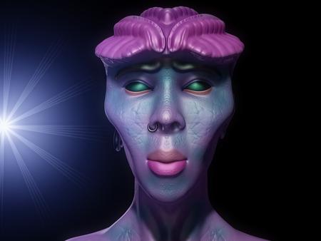 haunting: Alien monster portrait