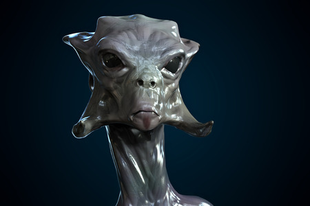 starship: Alien monster portrait