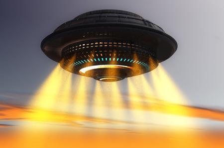 Nave OVNI futurista Foto de archivo