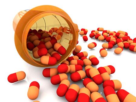 capsules: Medicine capsules Stock Photo