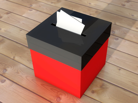 abstention: Ballot box to vote