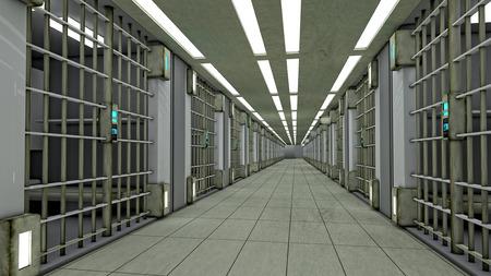 jailhouse: 3d futuristic interior jail