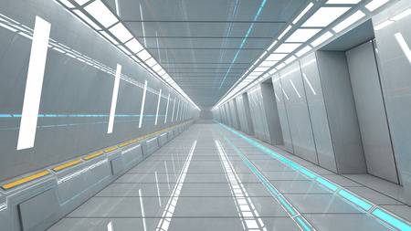 futuristic interior: Futuristic interior architecture Stock Photo
