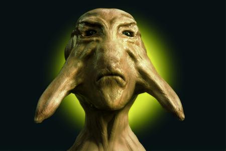 haunting: 3d alien portrait