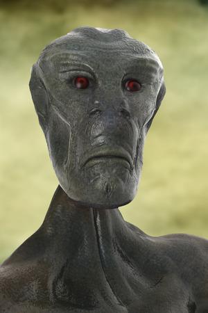 armageddon: 3d alien portrait