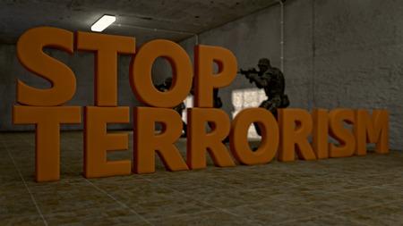 fundamentalism: Stop terrorism Stock Photo