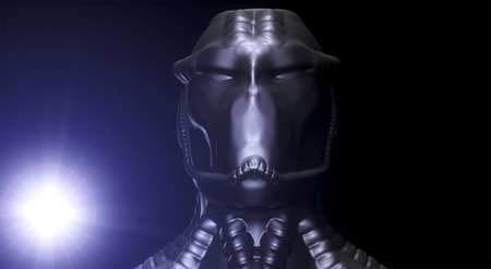 invasion: 3d alien portrait