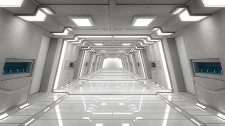 futuristic: Futuristic interior architecture Stock Photo