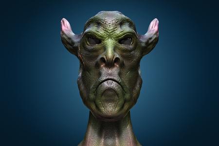 fantasy alien: 3d alien portrait