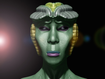 armageddon: Alien princess portrait Stock Photo