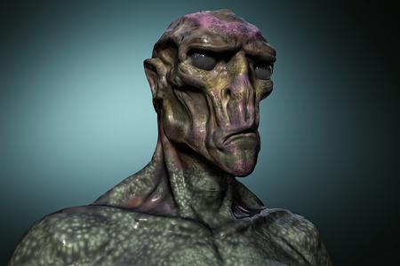 abduction: 3d alien portrait