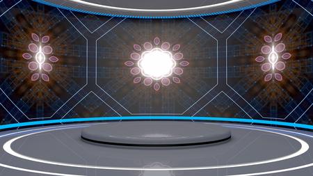 futuristic interior: Futuristic science fiction interior