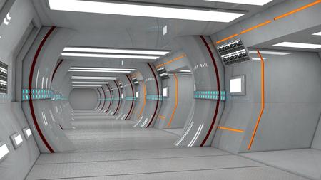 Futuristic science fiction interior