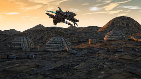 fantasy fiction: SCIFI UFO concept