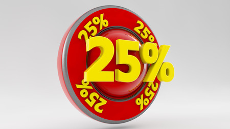 trade off: 3d discount text Stock Photo