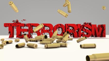 terrorism crisis: Terrorism 3d text concept