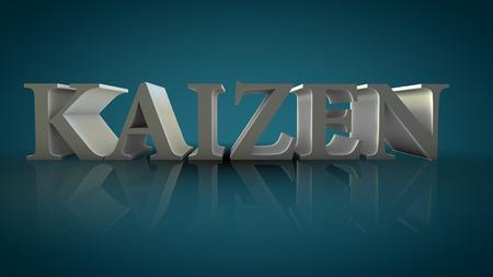Kaizen 3d text sign