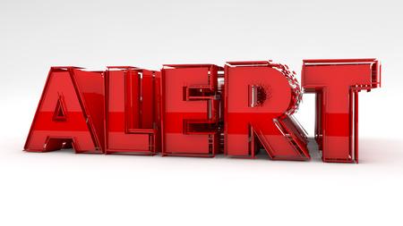 reactivity: Alert 3d red text sign