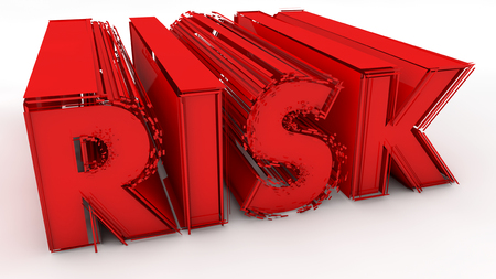 reactivity: Risk 3d red text sign
