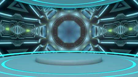futuristic interior: Futuristic Interior