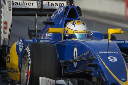 sauber: Driver Marcus Ericsson.  Sauber F1 team. Formula One Test Days at Circuit de Catalunya. Montmelo, Spain. February 22, 2016