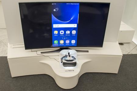 samsung: Samsung Gear VR. Mobile World Centre. Barcelona, Spain. February 27, 2016