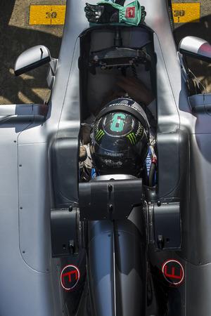 formula one: Driver Nico Rosberg. Team Mercedes. Formula One Test Days at Circuit de Catalunya. Montmelo, Spain. March 2, 2016