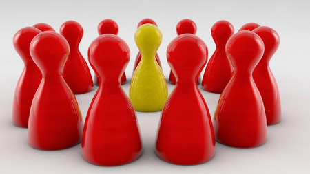 powerful creativity: Teamwork 3d figures