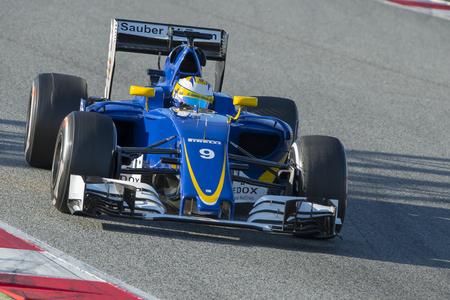 ericsson: Driver Marcus Ericsson. Team Sauber F1. Formula One Test Days at Circuit de Catalunya. Montmelo, Spain. March 4, 2016