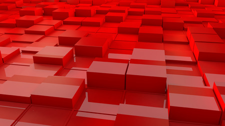 abstract cubes: 3d render. Abstract cubes network