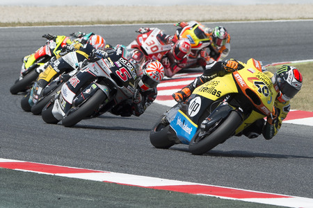 Driver Alex Rins. Team Paginas Amarillas. Monster Energy Grand Prix of Catalonia MotoGP at Circuit of Catalonia. Barcelona, Spain, June 5, 2016