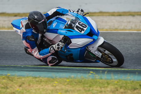moto2: Driver Pierre Texier. TEX Team. FIM CEV Repsol International Championship  at Circuit of Catalonia. Barcelona, Spain, June 11, 2016