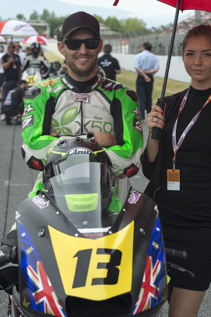 moto2: Driver Anthony West. Fritze Team. FIM CEV Repsol International Championship  at Circuit of Catalonia. Barcelona, Spain, June 12, 2016