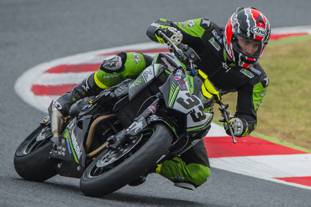 moto gp: Driver Miguel Angel Chaparro. Kawasaki Z Cup. FIM CEV Repsol International Championship  at Circuit of Catalonia. Barcelona, Spain, June 12, 2016