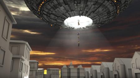 spacecraft: Alien spacecraft and human abduction