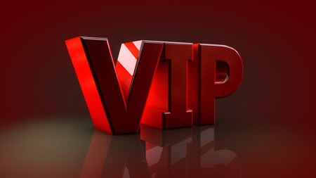honored: VIP network signal. 3D render