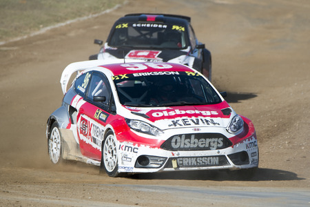 Kevin Eriksson.  Barcelona FIA World Rallycross Championship at Circuit of Barcelona. Montmelo, Spain. September 18, 2016 Editorial