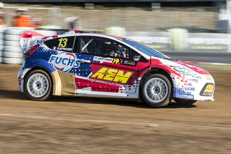 Cyril Raymond.  Barcelona FIA World Rallycross Championship at Circuit of Barcelona. Montmelo, Spain. September 18, 2016 Editorial