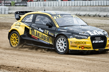 Robin Larsson.  Barcelona FIA World Rallycross Championship at Circuit of Barcelona. Montmelo, Spain. September 17, 2016