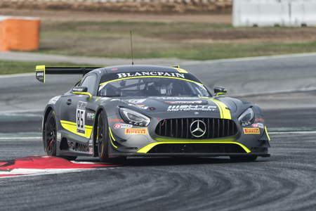 gt3: Mercedes AMG GT3.  Blancpain GT Series Championship at Circuit of Barcelona. Montmelo, Spain. October 1, 2016