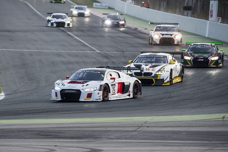 gt3: Audi R8 LMS GT3.  Blancpain GT Series Championship at Circuit of Barcelona. Montmelo, Spain. October 2, 2016 Editorial