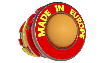 Made in Europe 3d sign