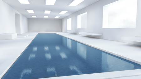3d binnenzwembad